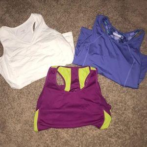 3 women's workout shirts